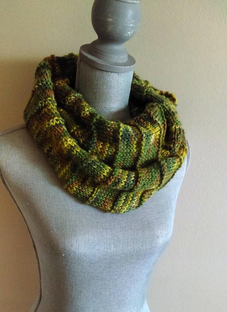 Knit Infinity Scarf Pattern Camo Infinity Scarf Camo Cowl Etsy