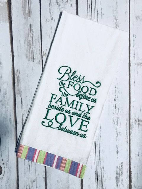 Kitchen Towel Machine Embroidery St Patrick S Day Dish Towel