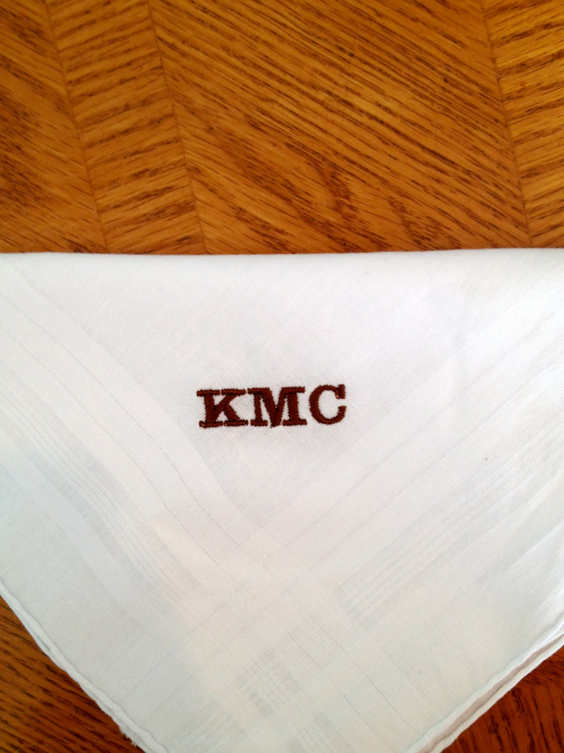 A Beautiful Mens Handkerchief With A Personalized Monogram Great