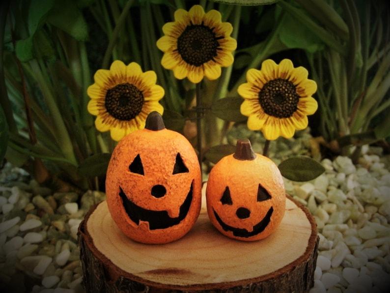 Dollhouse Halloween Fairy Garden Miniature Jack O Lantern LED Lights