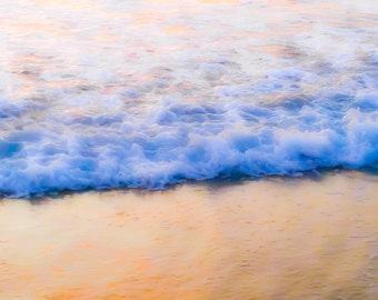 "Ocean Photography, Wave Photography, Beach Photography, Calming, California, Serene, Organic, 8x10 fine art print, ""Softly Rolls the Sea"""