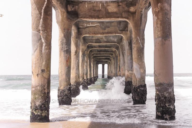 Manhattan Beach Photography Los Angeles Art Print Pier Beach image 0