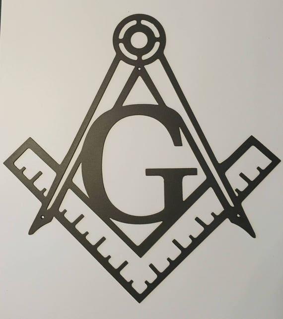 Masonic Square & Compass Metal Wall Art | Etsy