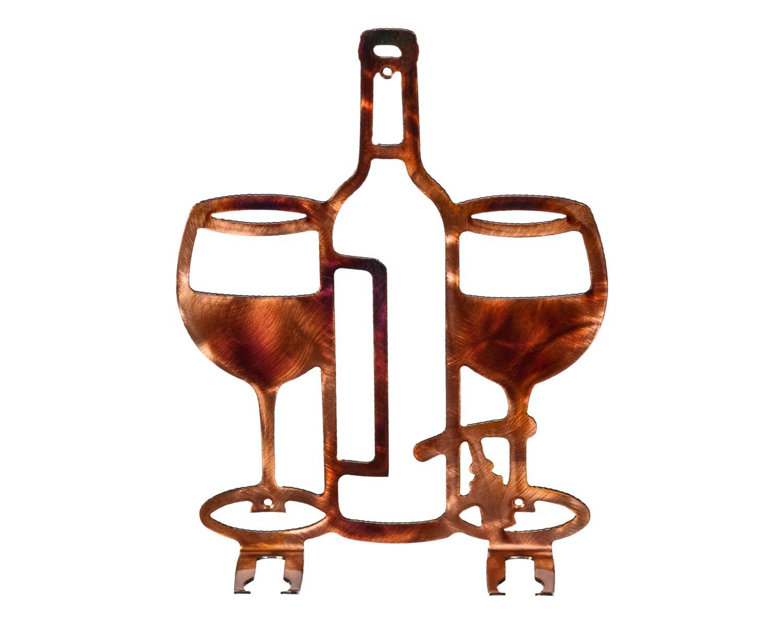 Metal Wine Glass Holder: Wine Glass Holder Kitchen Or Bar Metal Art