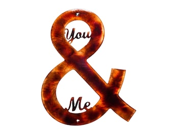 You & Me Ampersand Plasma Cut Indoor or Outdoor Metal Art