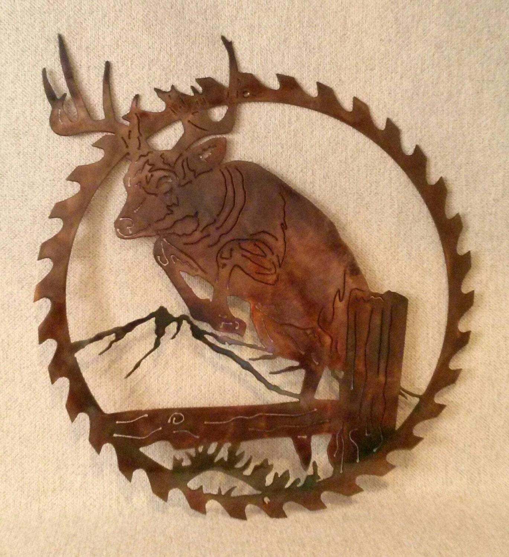 Whitetail Buck Deer Jumping Fishing Amp Hunting Lodge