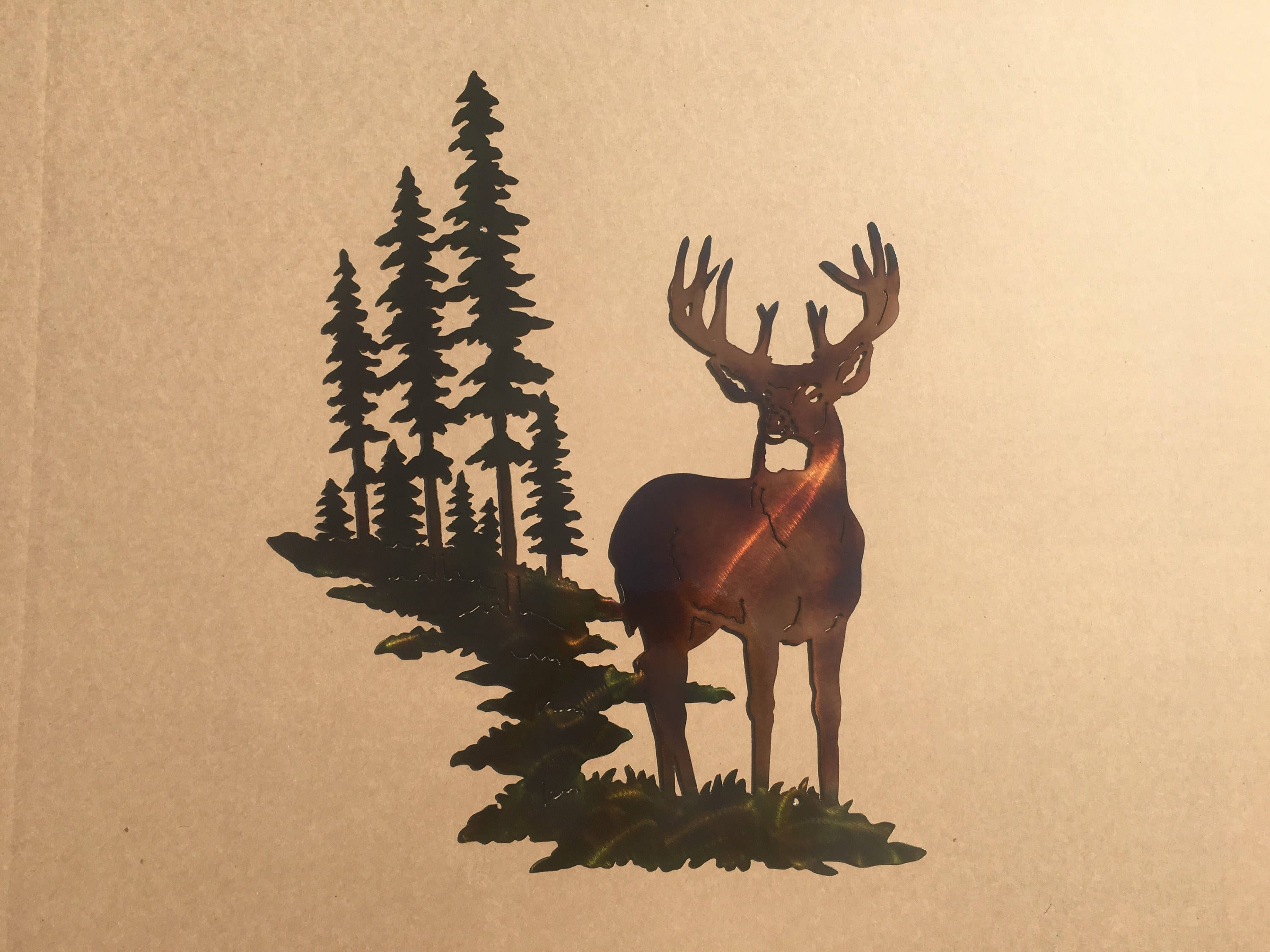 Fantastic Deer Metal Wall Art Component - Wall Painting Ideas ...