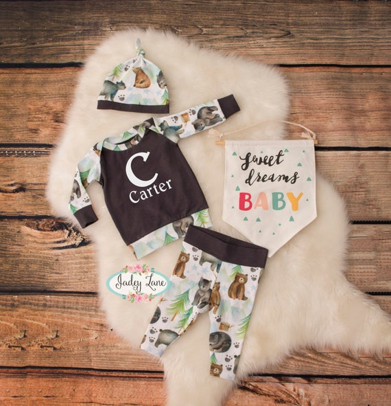 7f49ee506 Baby Bear Outfit   coming home outfit   newborn boy outfit