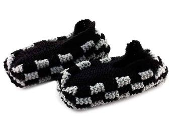 Checkerboard Phentex slippers for men grey and black