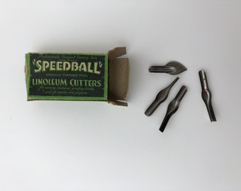 Speedball Linoleum Cutters, Vintage Linoleum Cutters, Antique Speedball Cutters, Vintage Printmaking, Printmaking Supplies