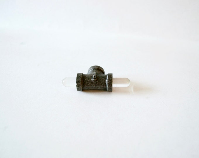 Acrylic Drawer Handles, Drawer Knobs: Black Iron Ends