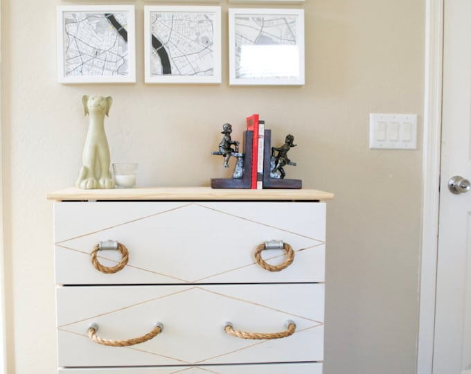 Inspiration: Galvanized Rope Pull and Tee Knob