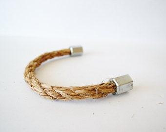 Rope Drawer Handle, Cabinet Pull: Steel Nut Hexagonal End