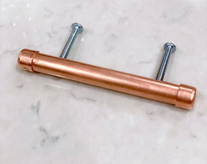 Copper Pinch Pulls & Knobs - Low Profile