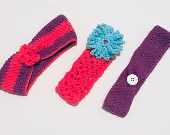 Girls' Crochet Headband