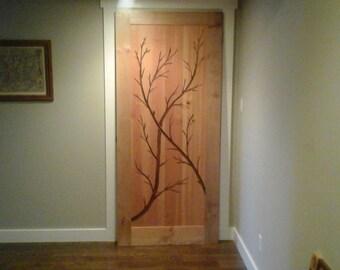 Artistic interior door
