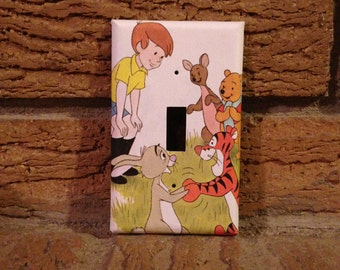 Winnie the Pooh Roo and Heffalump Light Switch and Electrical | Etsy
