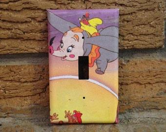 Dumbo A Flying Elephant Light Switch Cover, Dumbo Nursery, Dumbo Baby Shower, Dumbo Decoration DUM7