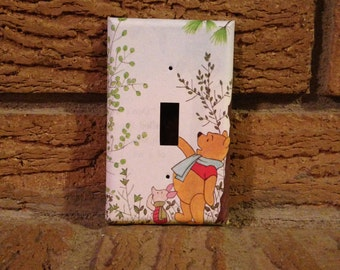 Winnie the Pooh and Piglet Light Switch Plate, Winnie the Pooh Nursery, Winnie the Pooh Decor, Winnie the Pooh Piglet, Winnie the Pooh,WTP17
