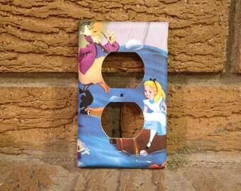 Alice in Wonderland Electrical Cover, Alice and Dodo, Alice Wonderland Decor, Alice in Wonderland Gift, Alice Wonderland Baby Shower, ALI31