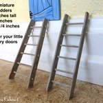 Tiny Fairy Ladder Choose Straight or Flared Style 2 Sizes Wood Ladder and Rungs Choose 4 1/4 or 6 inches for miniature scenes.