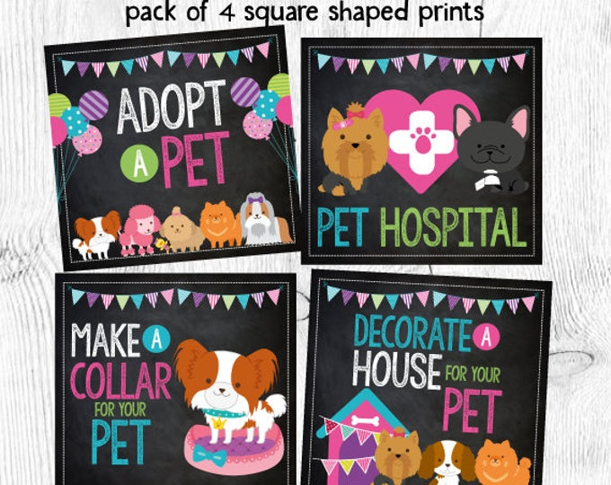 Pet Adoption Party, Puppy Birthday, Pet Adoption Prints, Pet Adoption Signs, DIGITAL, Instant download