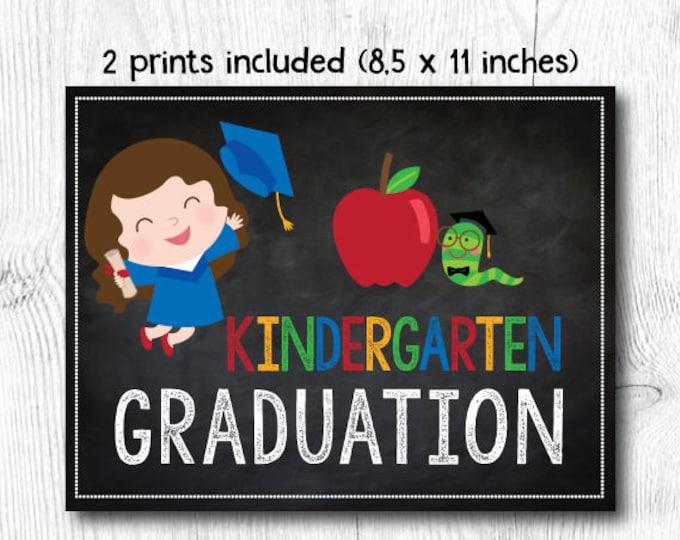 Last day of kindergarten sign, Preschool graduation sign, Last day of Preschool sign, 2 prints included, Digital files, Instant download