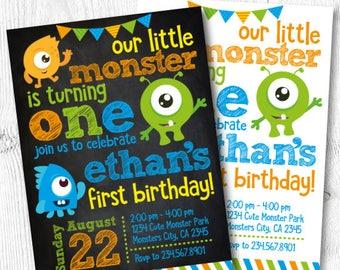 monster invitations etsy