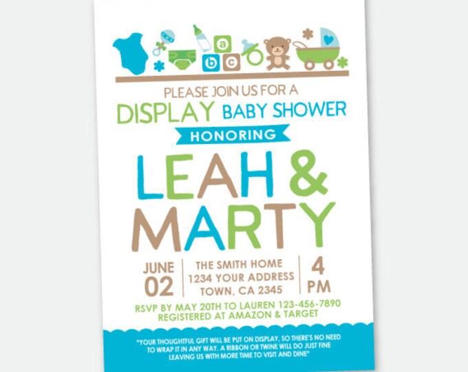 Display Baby Shower Invitation, Green Baby Shower Invitation, Gender Neutral Baby Shower, Personalized DIGITAL Invitation