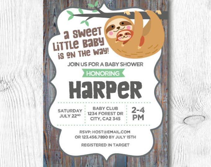 Bear Baby Shower Invitation, Woodland Baby Shower Invitation, Animal baby shower invitation, Unisex baby shower Invitation, DIGITAL