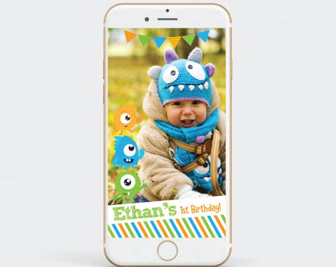 Little monster Snapchat Filter, First Birthday Snapchat Filter, Boy Birthday geofilter, Birthday Geofilter, Customized Filter, Any age!