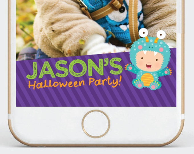 Halloween Snapchat Filter, Little Monster Party Geofilter, Birthday Kids Geofilter, Customized Filter for your party!