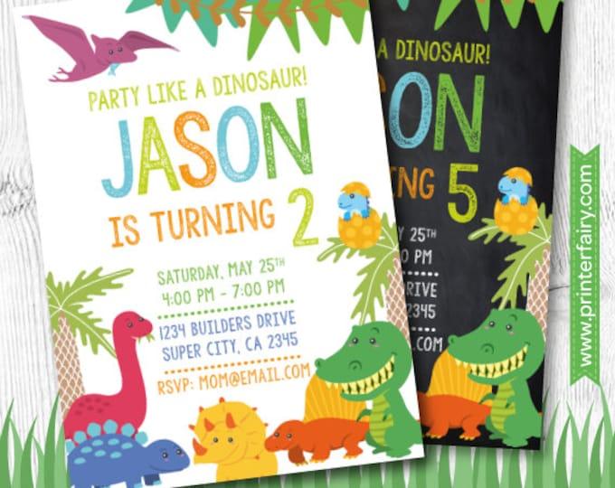 Dinosaur Invitation, Dinosaur Party, Dinosaur Birthday, Dino Birthday, Dinosaur Birthday Invitation, Digital Invitation