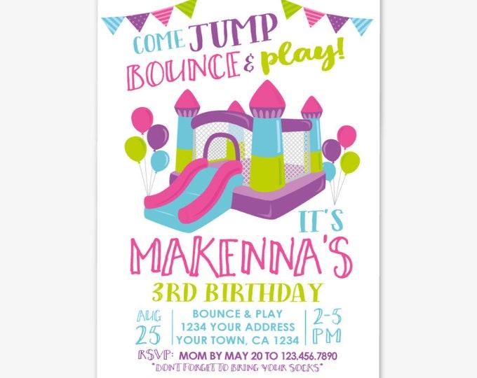 Jump Invitation, Bounce House Birthday Invitation, Trampoline Invitation, Park Invitation, Jump Party, Personalized Printable DIGITAL Invite