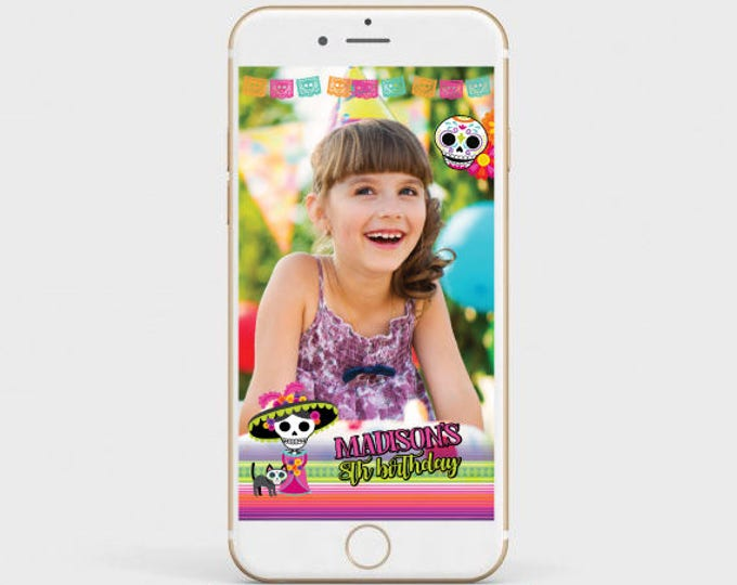 Day Of The Dead Filter, Halloween Filter, Customizable geofilter for any age and event, Customized Filter