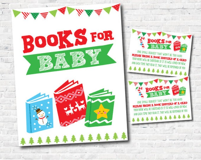 Ugly Sweater Baby Shower, Books for baby Tickets, Books for Baby Sign, INSTANT DOWNLOAD