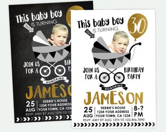 Funny Adult Birthday Invitation, Adult Birthday Invitation with photo, 30, 40, 50 Birthday Invitation, Any age Personalized DIGITAL Invite