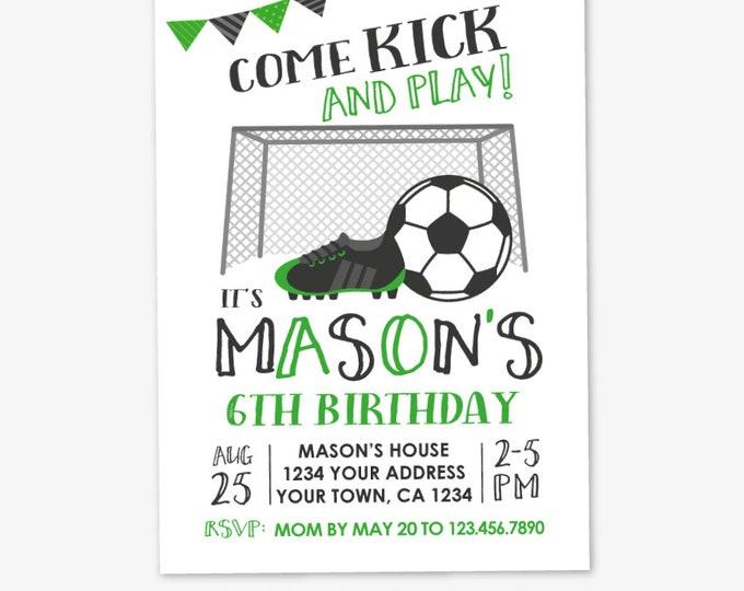 Soccer Invitation, Soccer Birthday Party, Sports Birthday Party, Sports Invitation, Printable DIGITAL Invitation