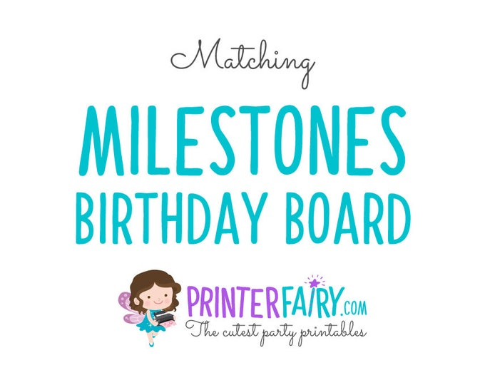 Matching Birthday Board - Milestone Board