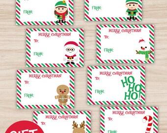 Christmas Gift Tags, Christmas printable gift tags, you print!