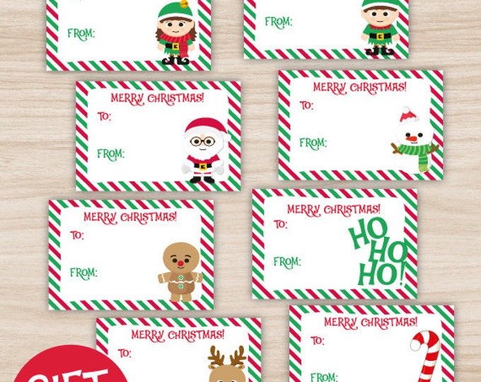 Christmas Gift Tags, Christmas printable gift tags, you print!