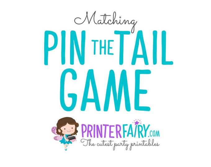 Custom Matching Pin the Tail, Pin the Mustache, Pin the Crown, etc. Any theme