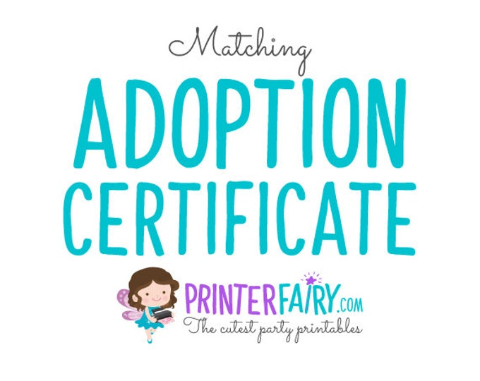 Matching Adoption Certificate