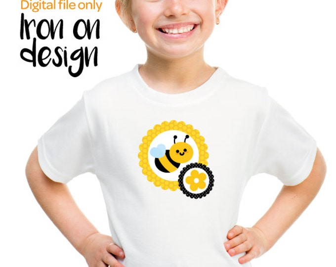Bee Iron on design, bee t shirt