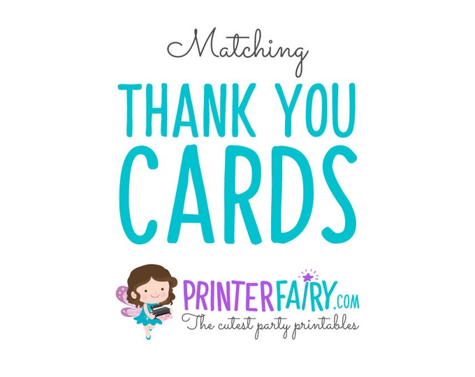 Custom Thank you cards to match your invitation