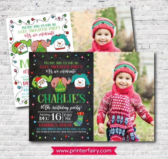 Christmas Ugly Sweater Party Invitation