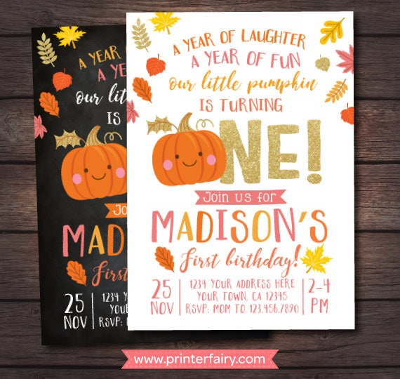 Little pumpkin first birthday invitation pumpkin girl invitation little pumpkin first birthday invitation pumpkin girl invitation autumn birthday party digital personalized invites 2 options filmwisefo