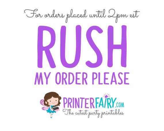 RUSH FEE, Receive your personalized invitation the same day