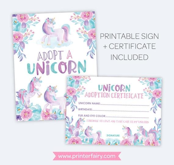 image relating to Pet Adoption Certificate Free Printable titled Unicorn Adoption Social gathering, Unicorn Adoption Certification and