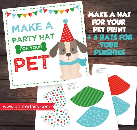 Pet Adoption Party Prints Make A Hat Puppy Birthday
